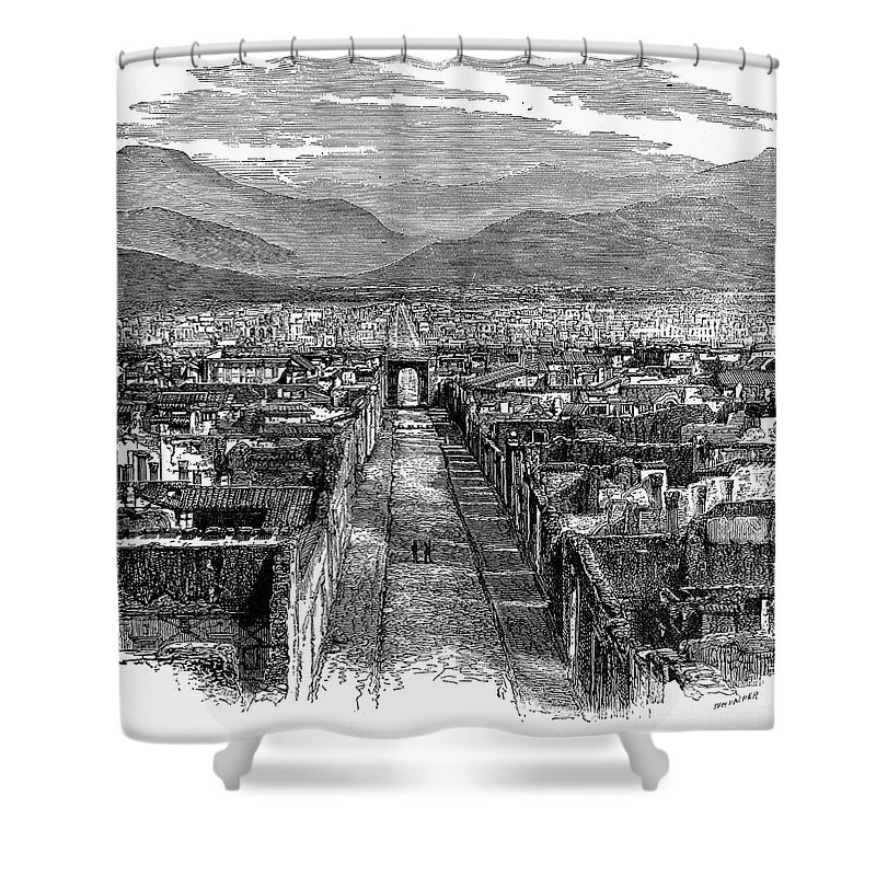 1880 Shower Curtain featuring the photograph Pompeii: Ruins, C1880 by Granger