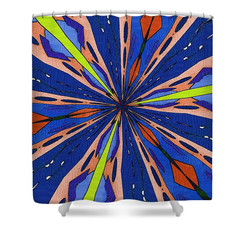 Passage Shower Curtain featuring the digital art Portal To The Past by Alec Drake