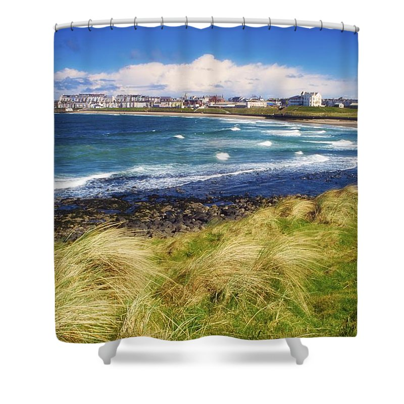 Bay Shower Curtain featuring the photograph Portrush, Co Antrim, Ireland Seaside by The Irish Image Collection