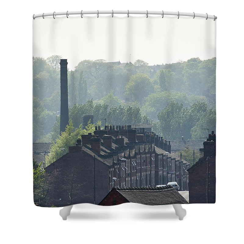 2011 Shower Curtain featuring the photograph Potteries Urban Landscape by Andrew Michael