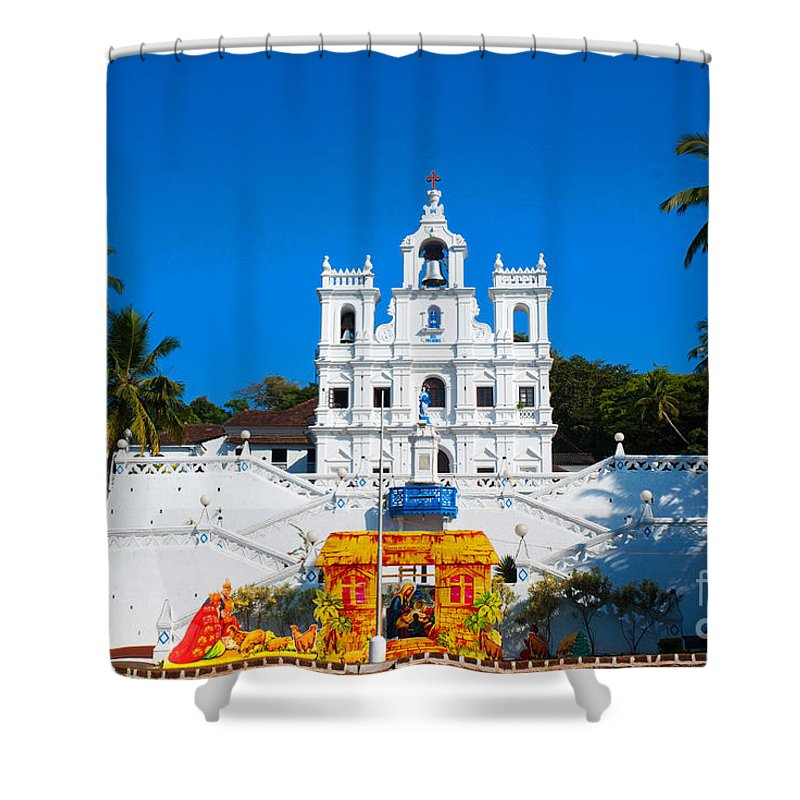 Church Shower Curtain featuring the photograph Pray For Me by Dattaram Gawade