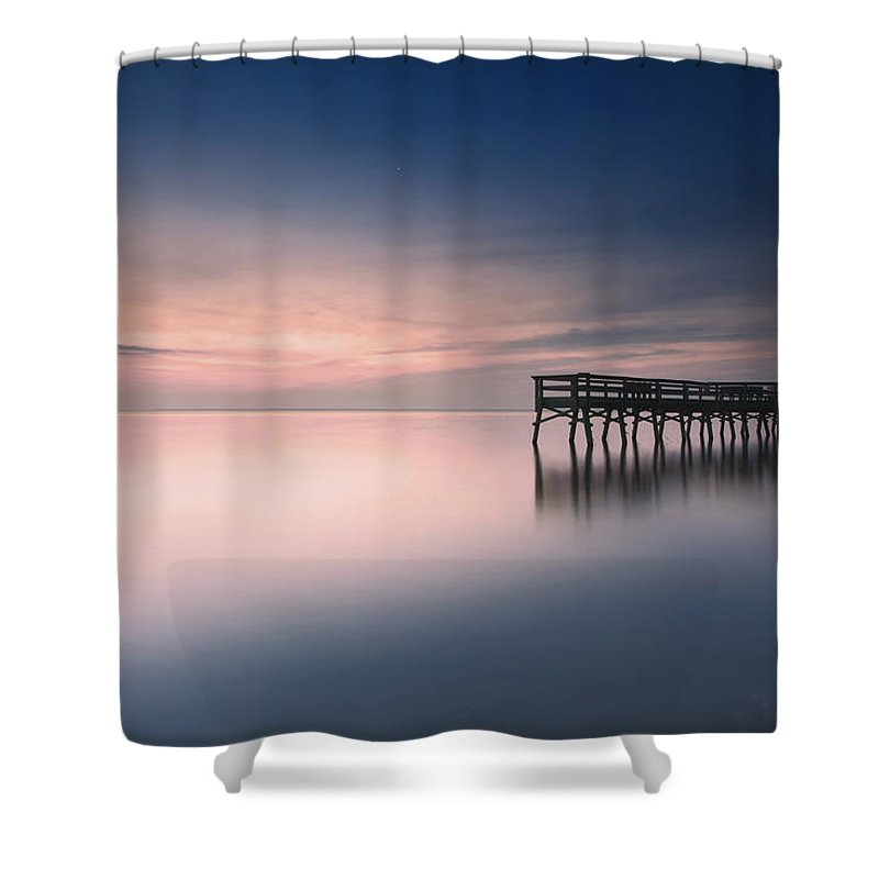 Water Surface Shower Curtain featuring the photograph Pre-dawn Magic by Edward Kreis