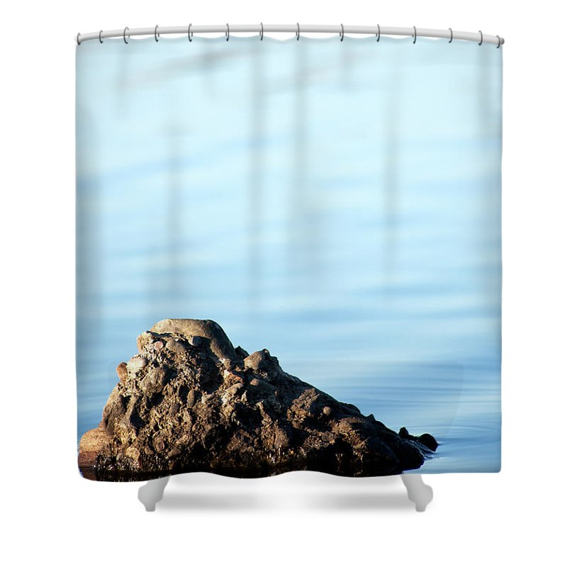 Stone Shower Curtain featuring the photograph Private Island by Maglioli Studios