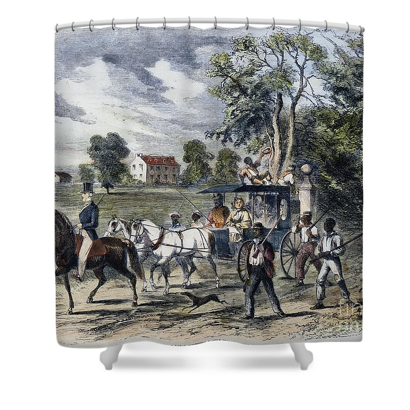 1872 Shower Curtain featuring the photograph Pro-union South, 1862 by Granger