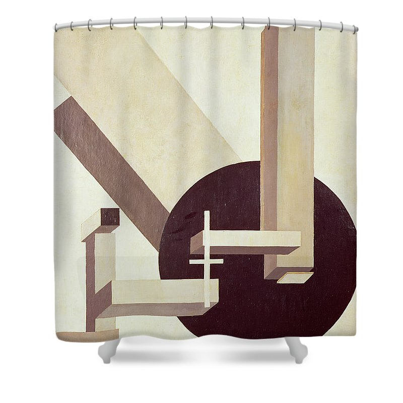 Suprematist; Constructivist; Abstract Shower Curtain featuring the painting Proun 10 by El Lissitzky