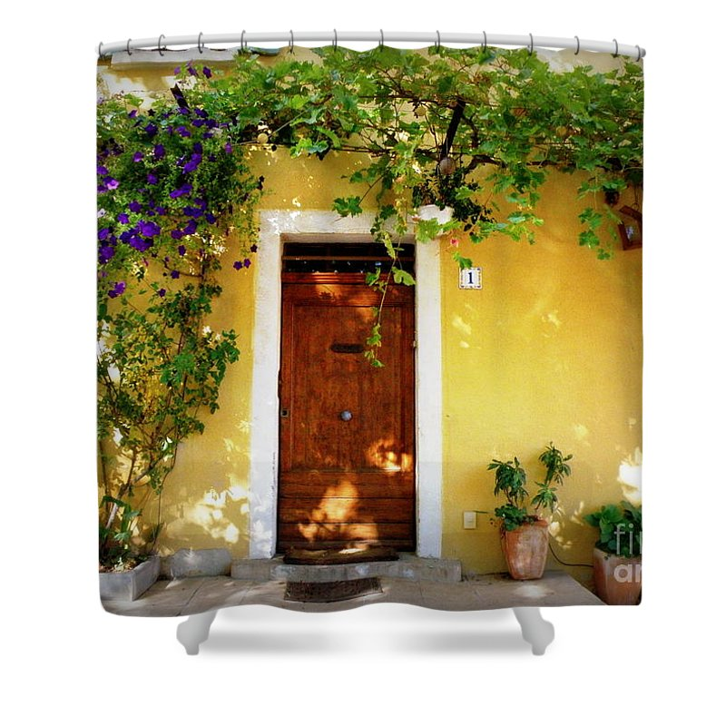 Door Shower Curtain featuring the photograph Provence Door Number 1 by Lainie Wrightson
