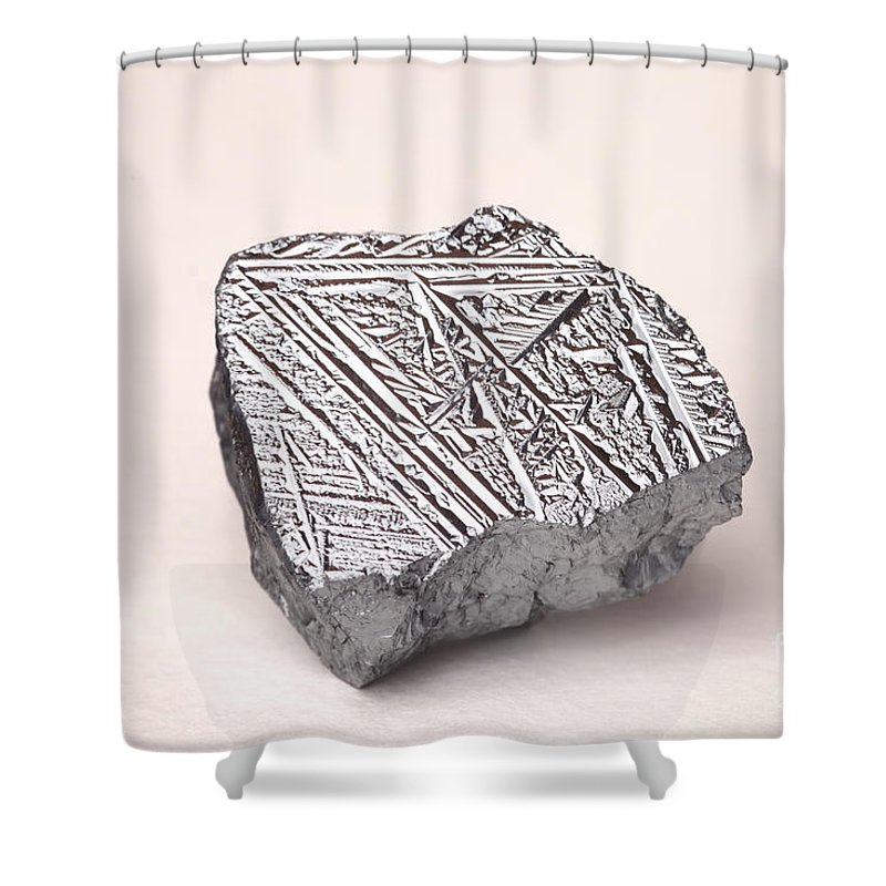 Metalloid Shower Curtain featuring the photograph Pure Crystalline Silicon by Ted Kinsman