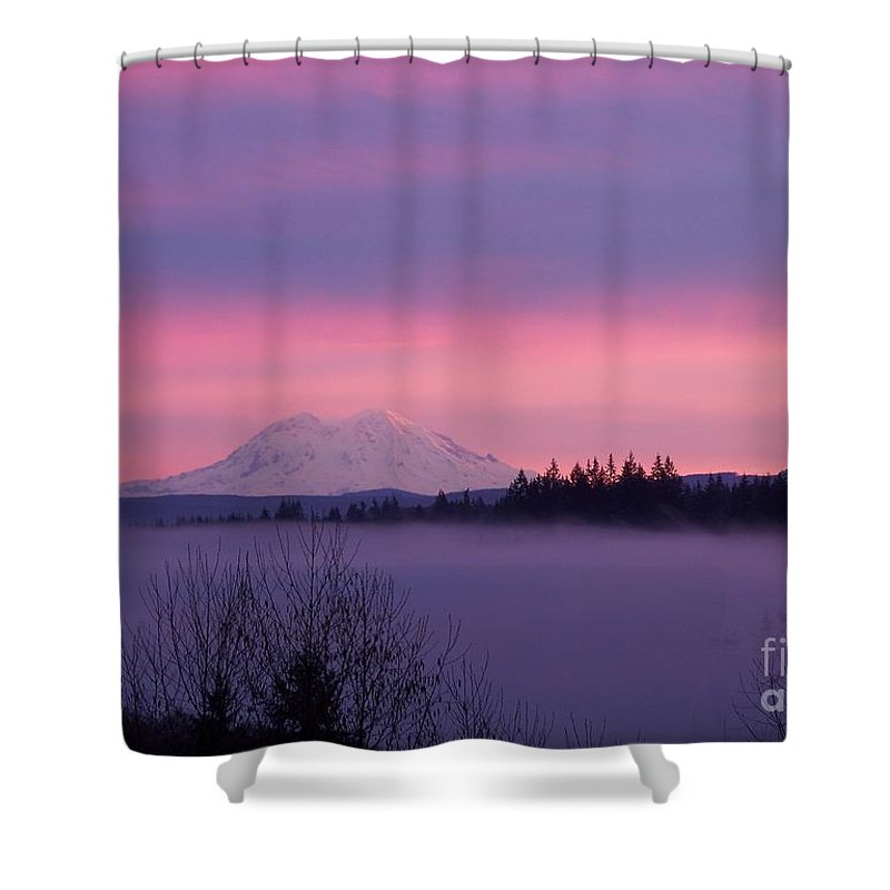 Purple Mountain Majesty Shower Curtain featuring the photograph Purple Mountain Majesty by Chalet Roome-Rigdon