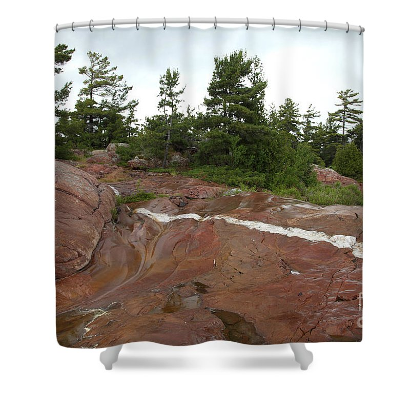 Geographic Features Shower Curtain featuring the photograph Quartz Vein by Ted Kinsman
