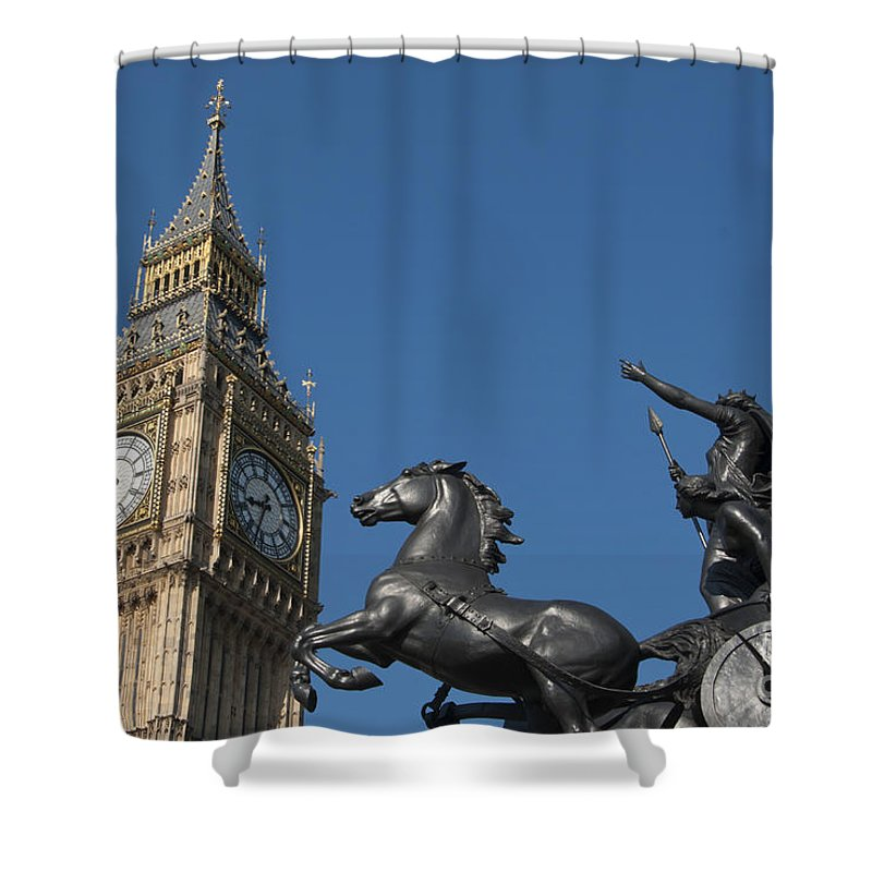 2011 Shower Curtain featuring the photograph Queen Boadicea by Andrew Michael