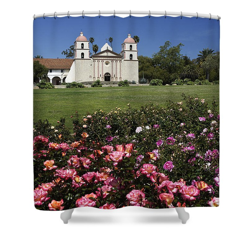 California Shower Curtain featuring the photograph Queen Of The Missions by Michele Burgess