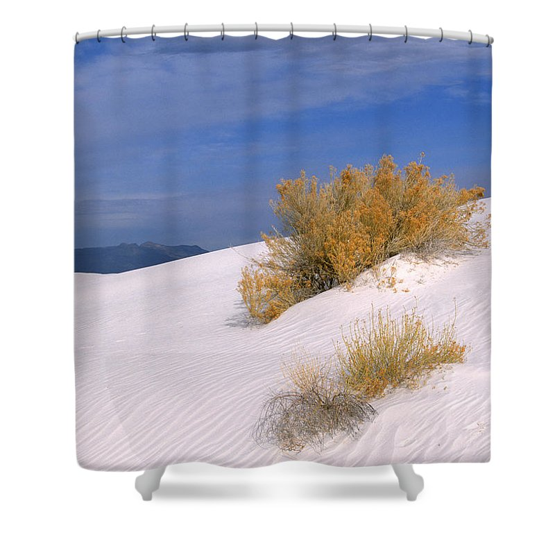 Sandra Bronstein Shower Curtain featuring the photograph Windswept - White Sands National Monument by Sandra Bronstein