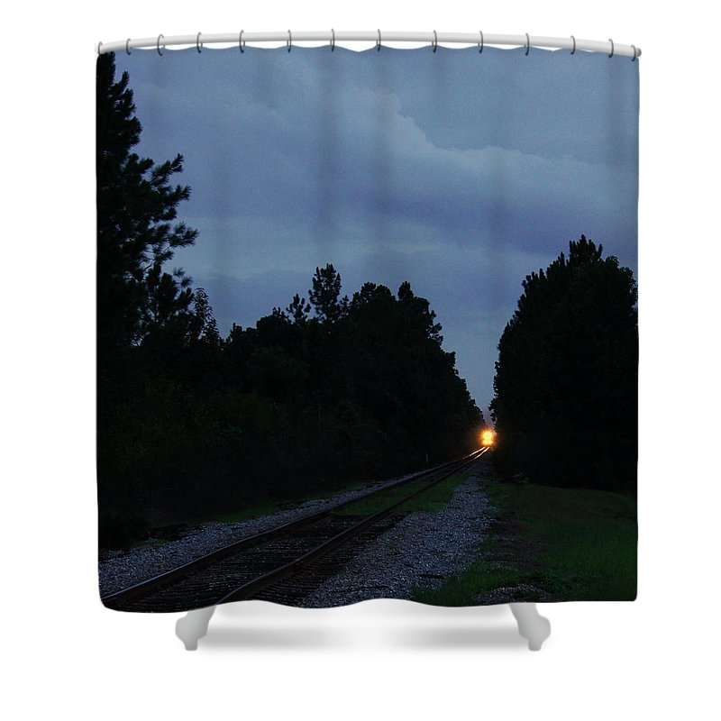 Trains Shower Curtain featuring the photograph Rails Clear by Paul Wilford