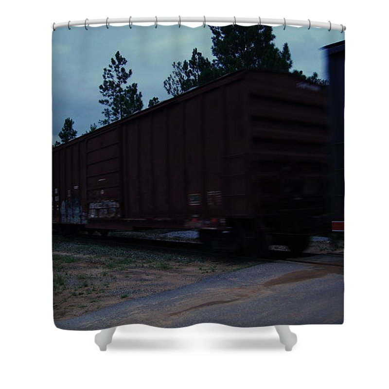 Railroad Shower Curtain featuring the photograph Rails by Paul Wilford