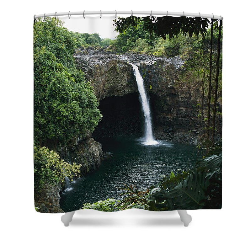 Rainbow Falls Shower Curtain featuring the photograph Rainbow Falls by George F. Mobley