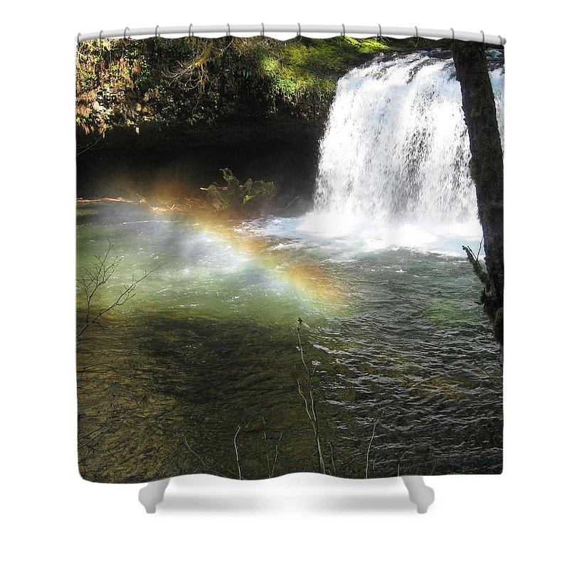 Rainbow Shower Curtain featuring the photograph Rainbow Mist 2 by Linda Hutchins