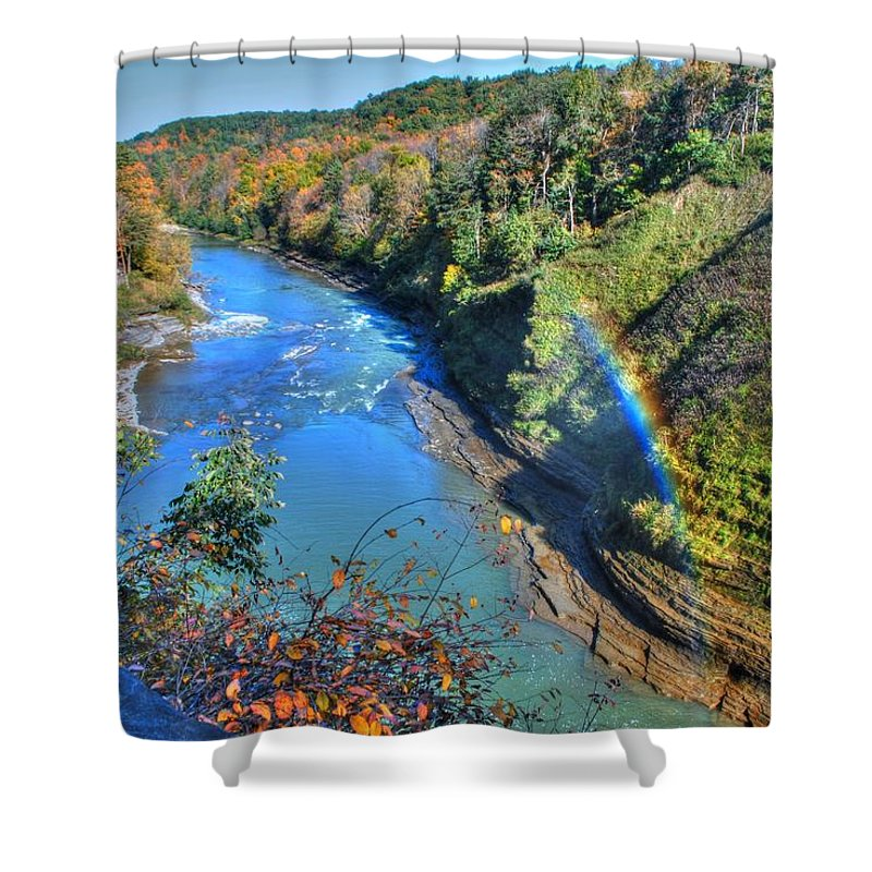 Shower Curtain featuring the photograph Rainbow On A Beautiful Oct Day by Michael Frank Jr