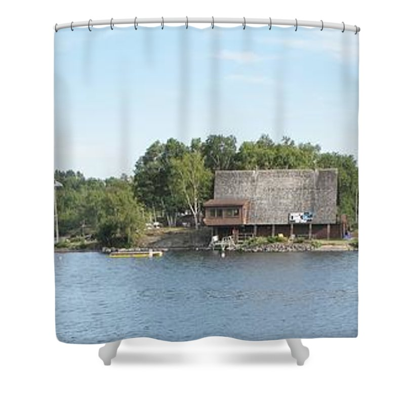 Ramsey Lake Shower Curtain featuring the photograph Ramsey Lake Sudbury by Ian MacDonald