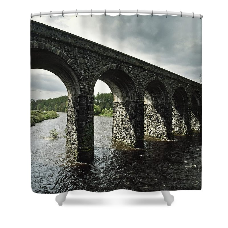 Antrim Shower Curtain featuring the photograph Randalstown, Co Antrim, Ireland by The Irish Image Collection