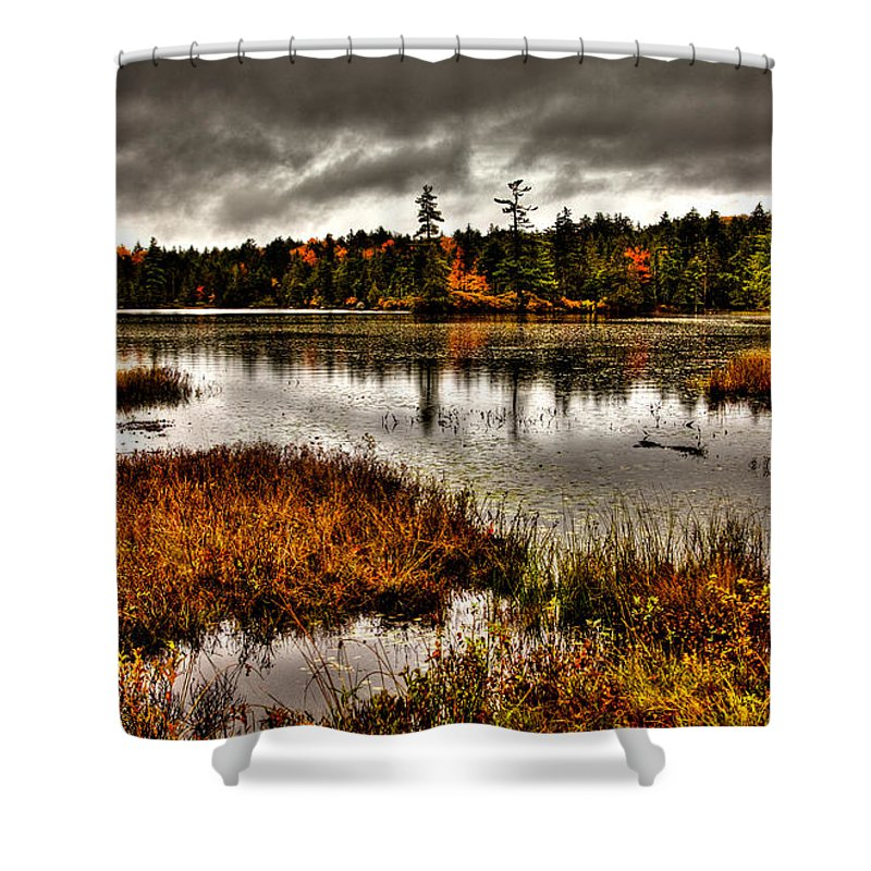 Adirondack's Shower Curtain featuring the photograph Raquette Lake In Upstate New York by David Patterson