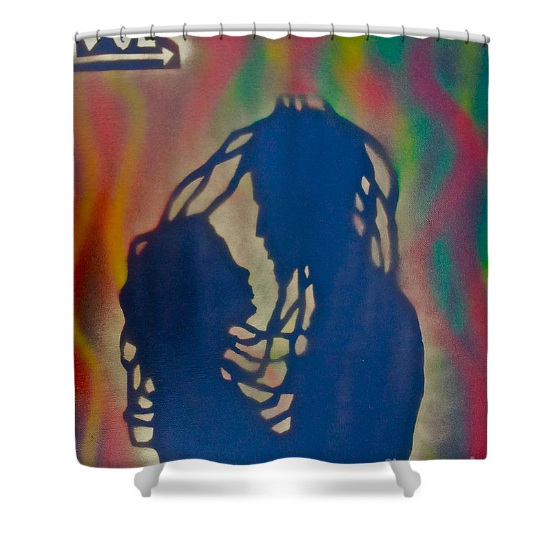 Love Paintings Shower Curtain Featuring The Painting Rasta Love By Tony B  Conscious