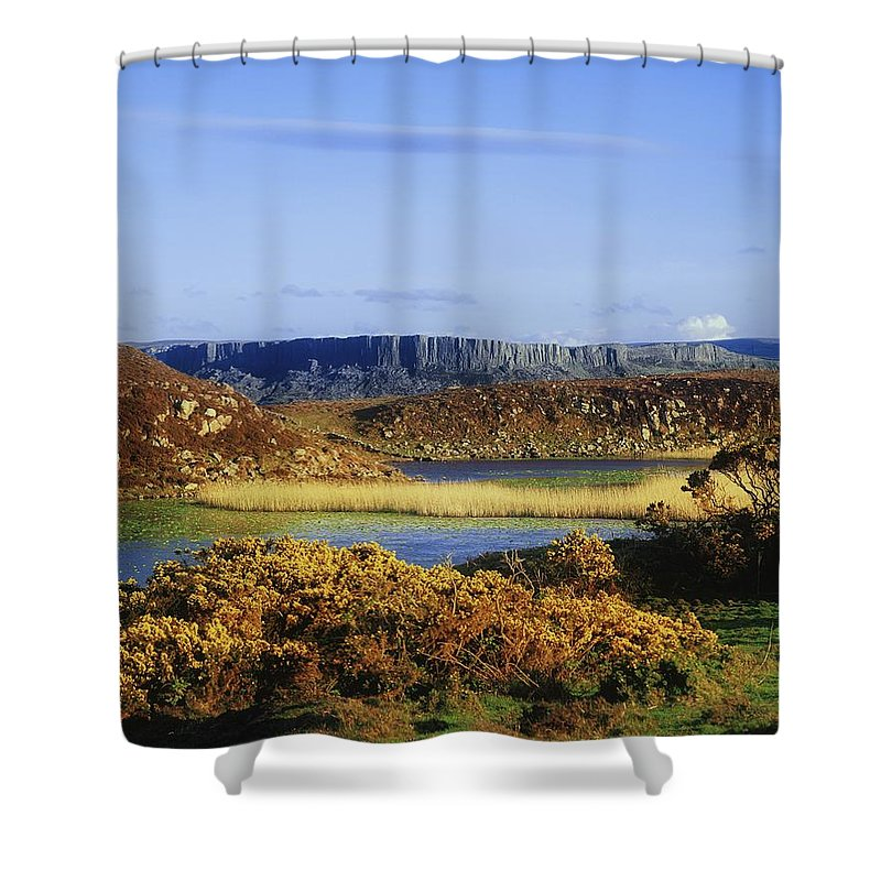 Autumn Shower Curtain featuring the photograph Rathlin Island, Co Antrim, Ireland by The Irish Image Collection