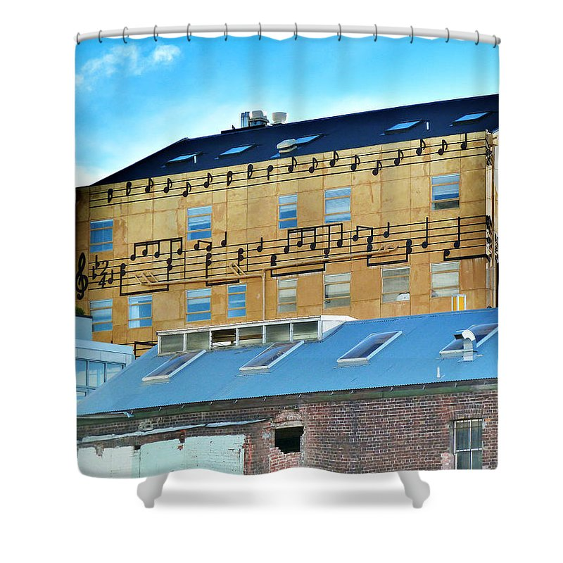 Real Groovy Shower Curtain featuring the photograph Real Groovy by Steve Taylor