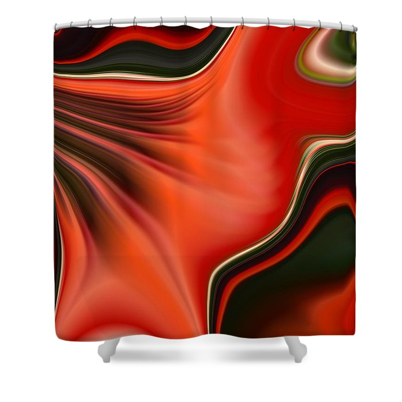 Red Shower Curtain featuring the painting Red Beauty by Renate Nadi Wesley