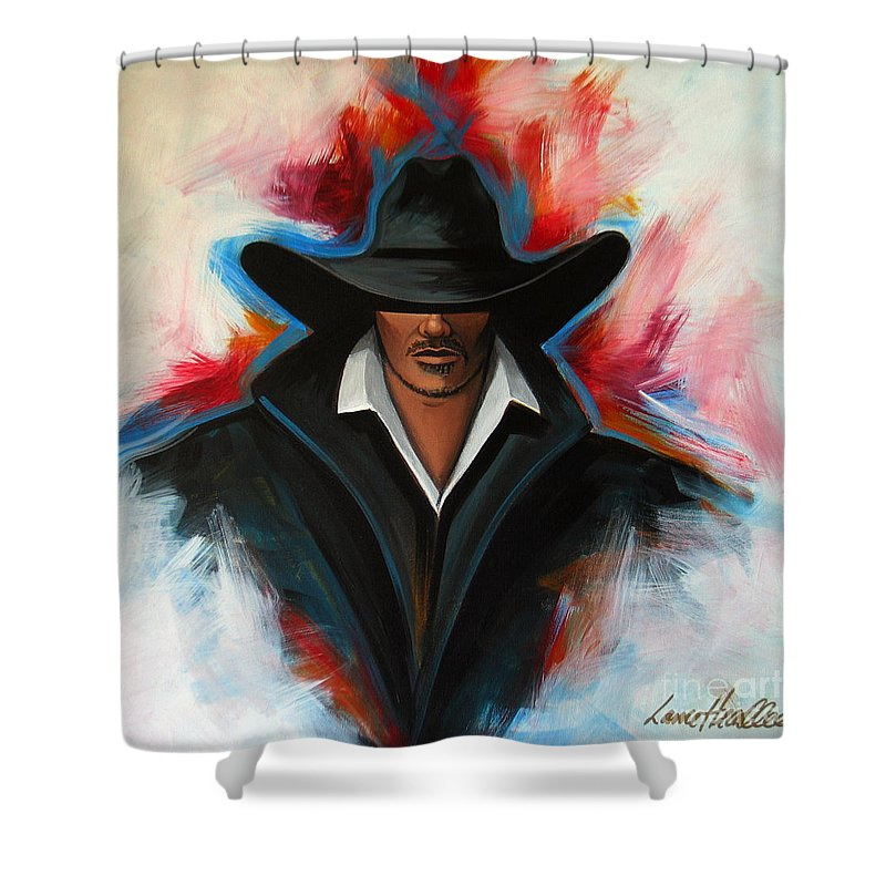 Colors Shower Curtain featuring the painting Red Rain by Lance Headlee