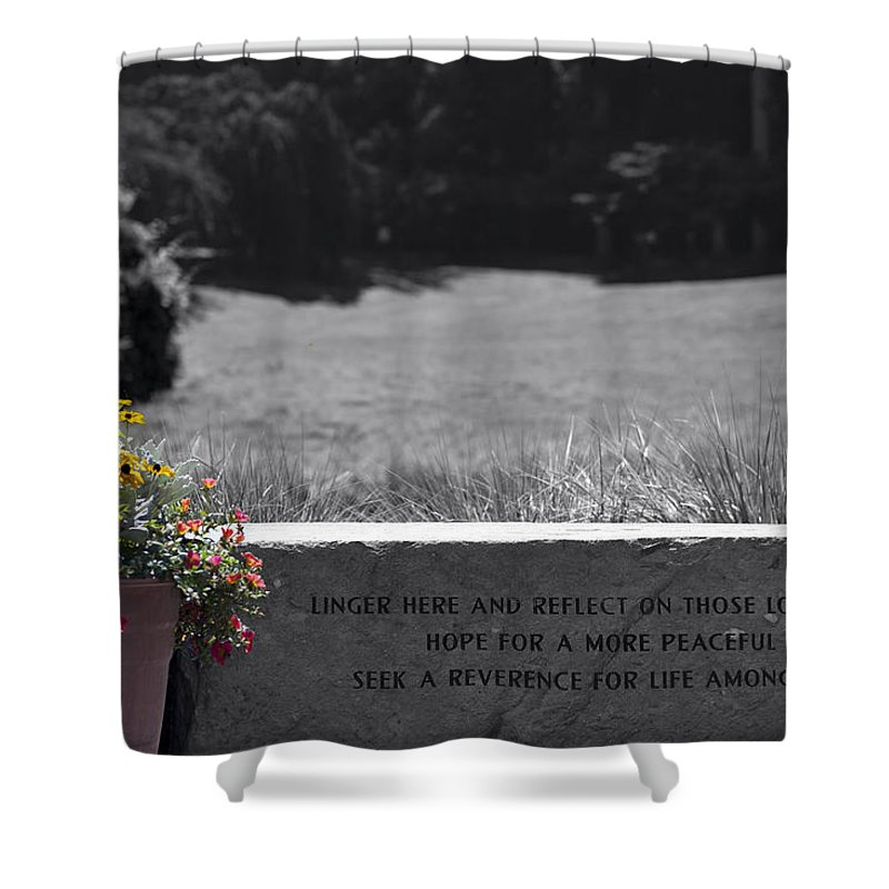 Harmony Shower Curtain featuring the photograph Reflection And Meditation by Edward Kreis