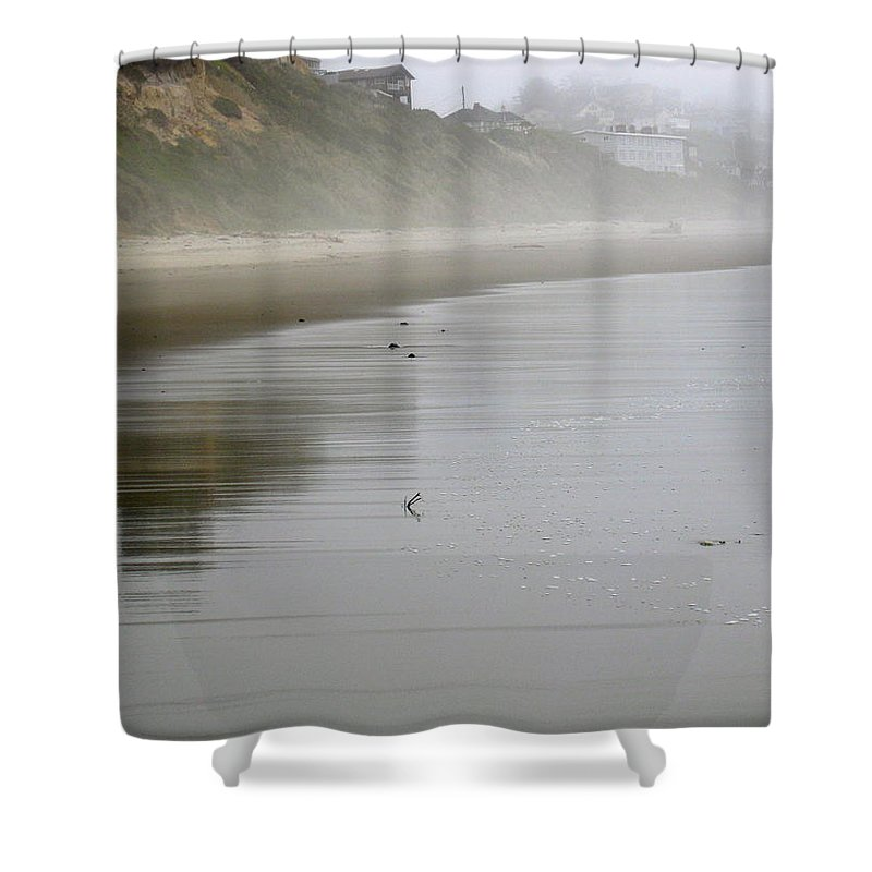 Beach Shower Curtain featuring the photograph Reflection by Linda Hutchins