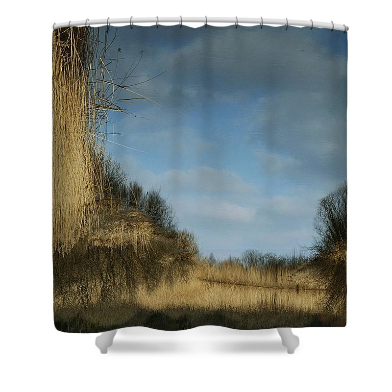 Geography Shower Curtain featuring the photograph Reflection Of A Blue Sky In A Stream by Mattias Klum