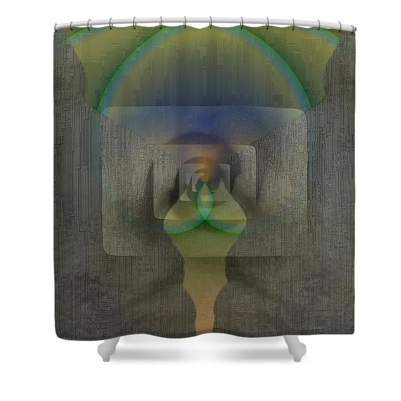 Reflection Shower Curtain featuring the digital art Reflections Of The Soul by Tim Allen