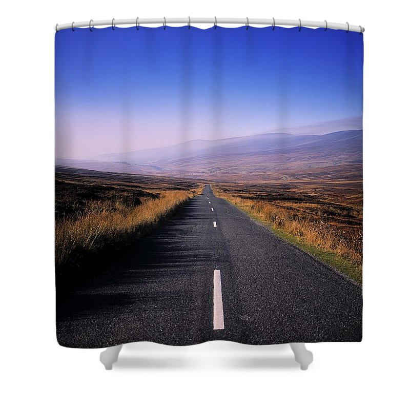 Regional Road Shower Curtain featuring the photograph Regional Road In County Wicklow by The Irish Image Collection