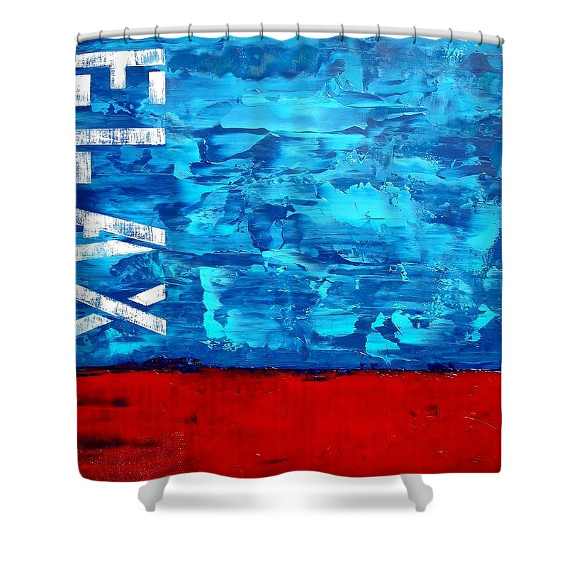 Large Abstract Paintings Shower Curtain featuring the painting Relax by Holly Anderson