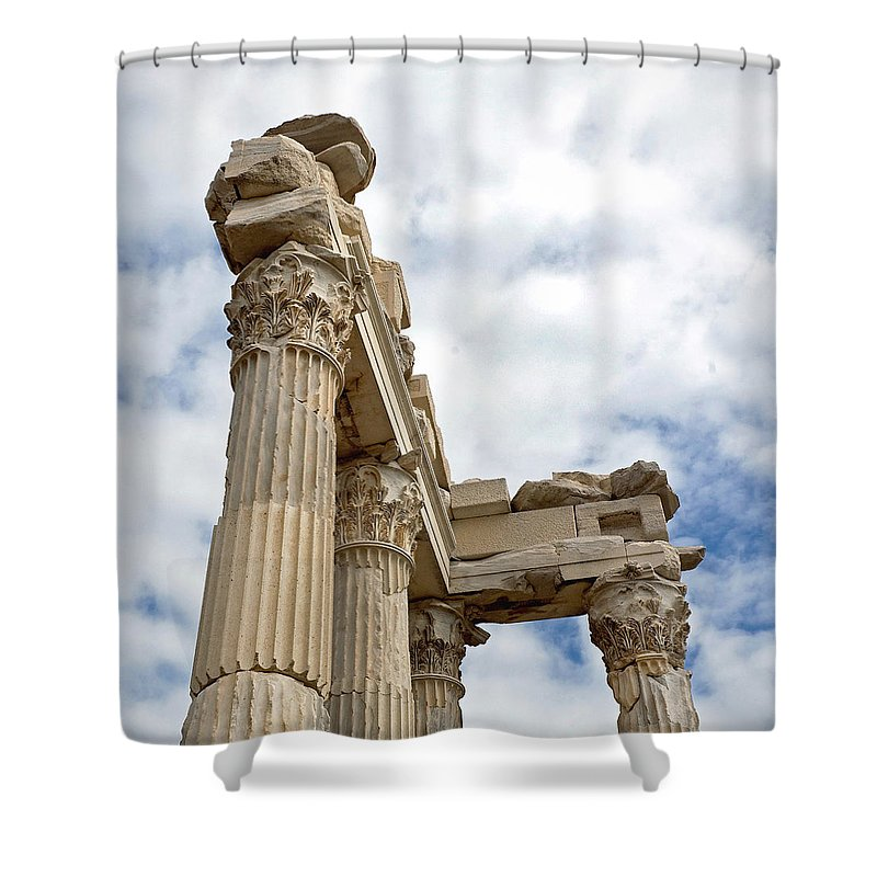 Marble Shower Curtain featuring the photograph Remnants Of An Empire by Glennis Siverson
