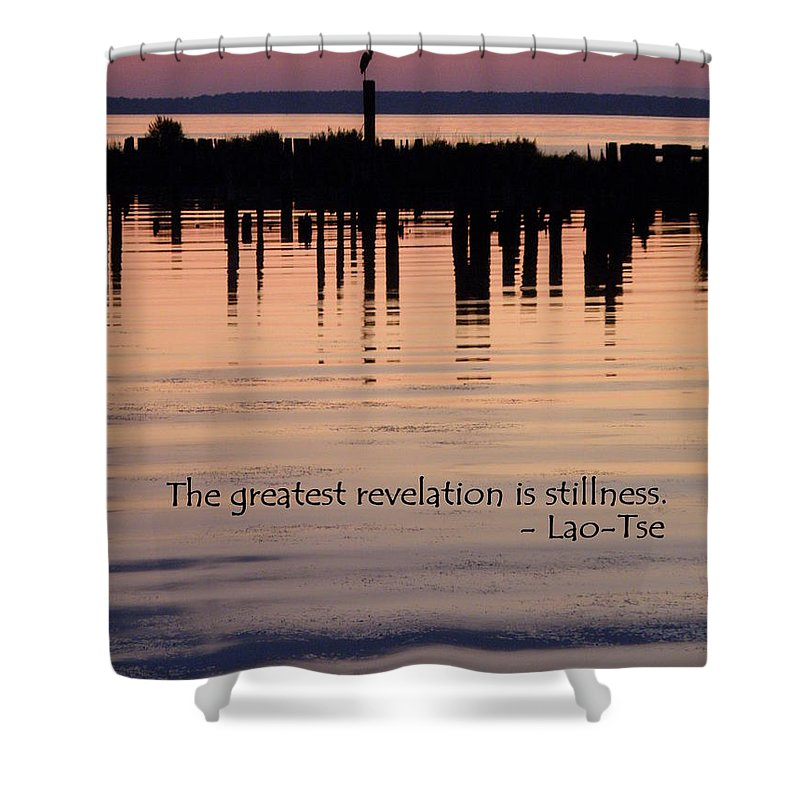 Stillness Shower Curtain featuring the photograph Revelation by Lainie Wrightson
