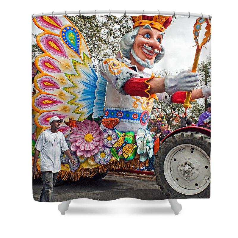New Orleans Shower Curtain featuring the photograph Rex Mardi Gras Parade IIi by Steve Harrington