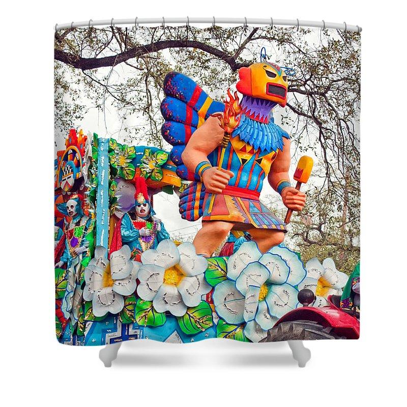 Nola Shower Curtain featuring the photograph Rex Mardi Gras Parade V by Steve Harrington