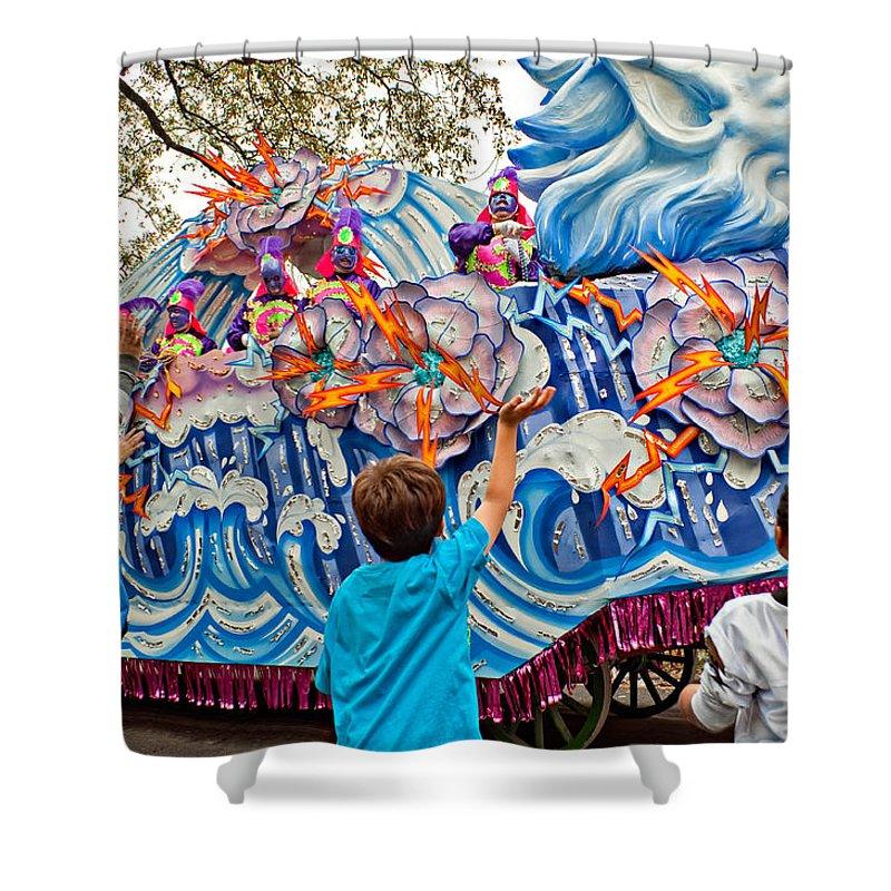 New Orleans Shower Curtain featuring the photograph Rex Mardi Gras Parade Viii by Steve Harrington
