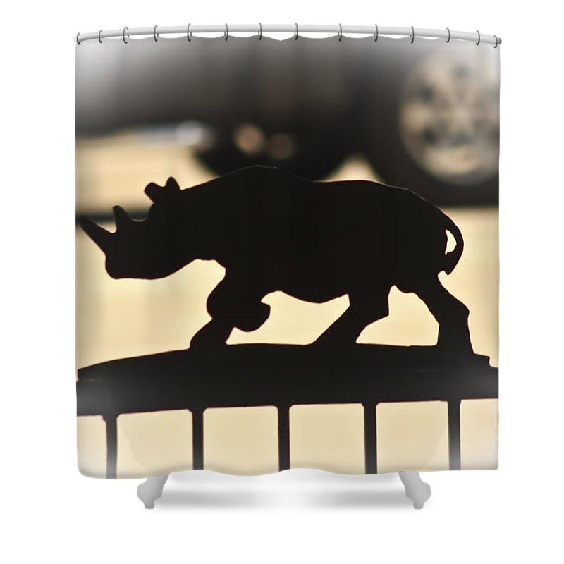 Rhino Shower Curtain featuring the photograph Rhino by Kim Henderson