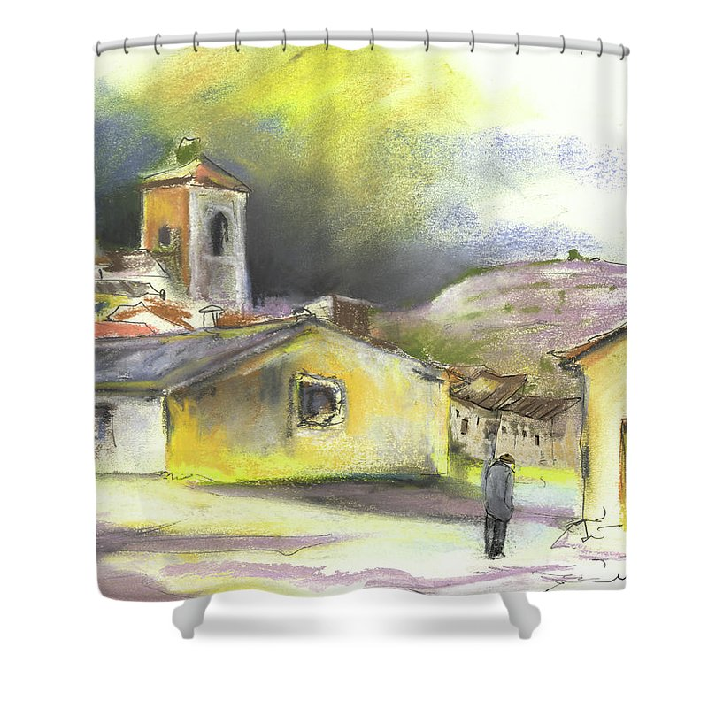 Spain Shower Curtain featuring the painting Ribera Del Duero In Spain 05 by Miki De Goodaboom