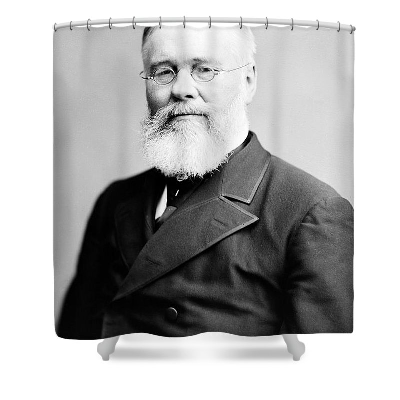 History Shower Curtain featuring the photograph Richard Jordan Gatling, American by Photo Researchers