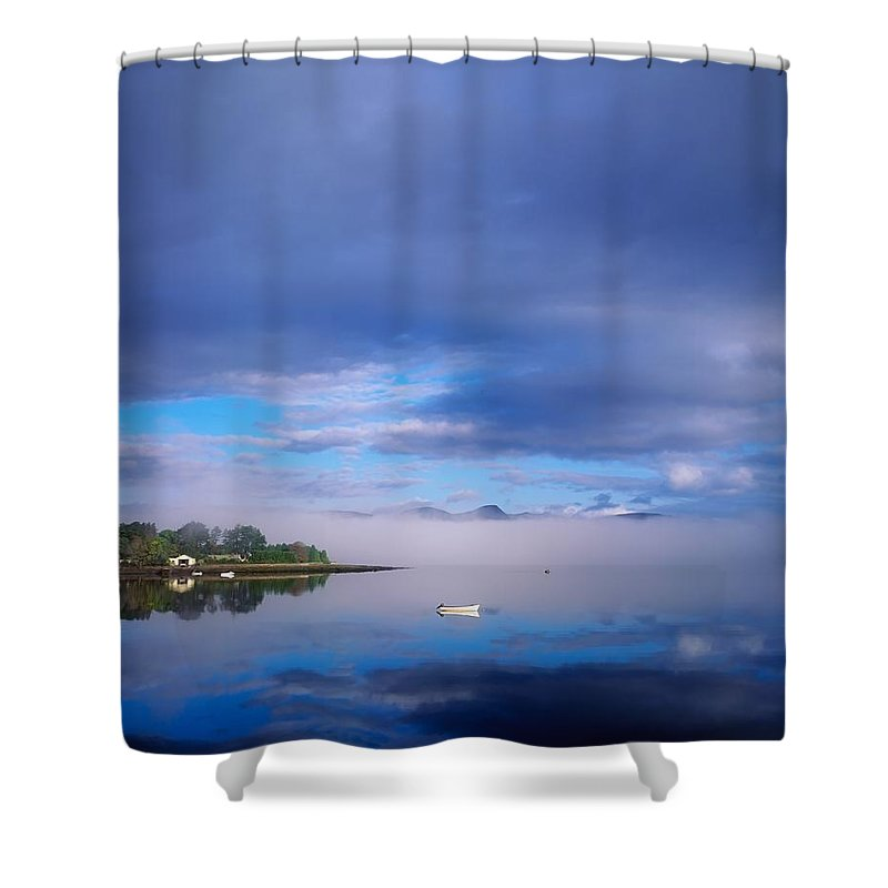 Beauty In Nature Shower Curtain featuring the photograph Ring Of Kerry, Dinish Island Kenmare Bay by The Irish Image Collection