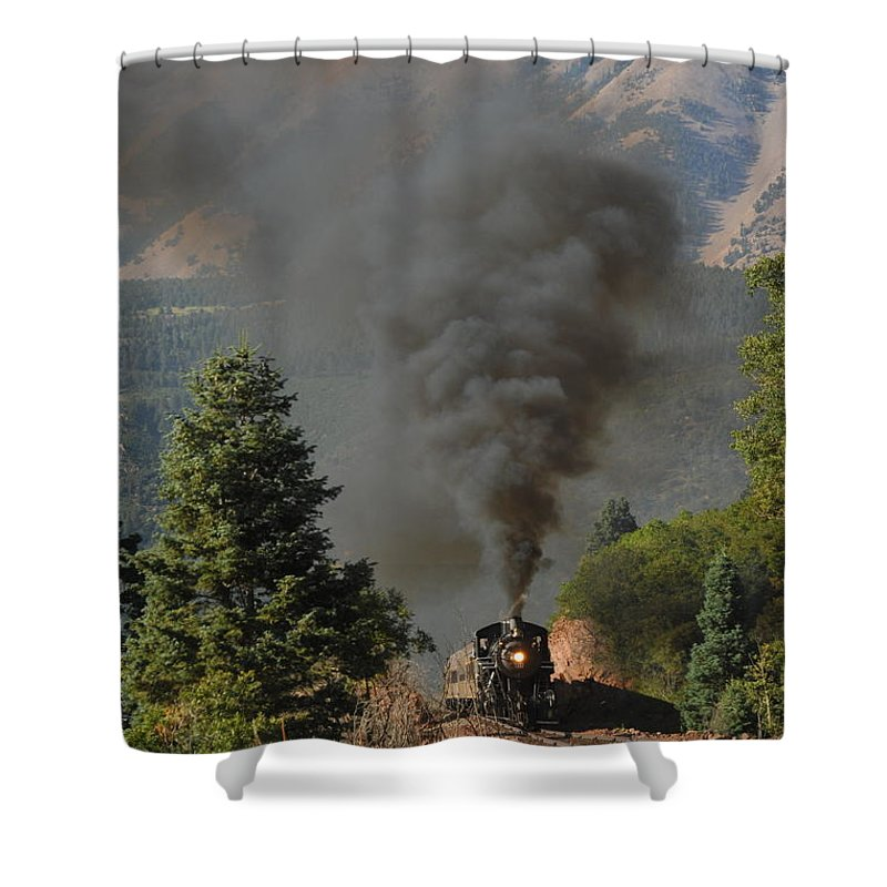 Rio Grande Railroad Shower Curtain featuring the photograph Rio Grande Rr by Ron Weathers
