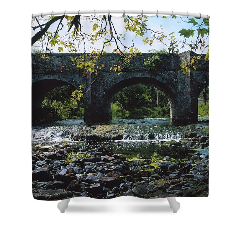 Arch Shower Curtain featuring the photograph River Annalee, Ballyhaise, Co Cavan by The Irish Image Collection