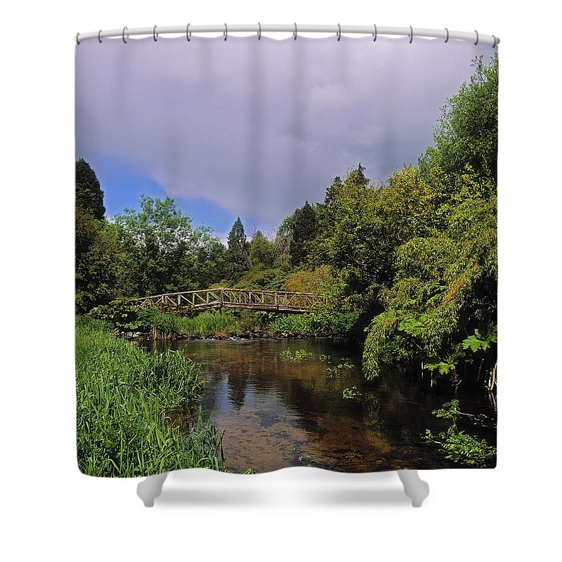 Outdoors Shower Curtain featuring the photograph River Awbeg, Annesgrove by The Irish Image Collection