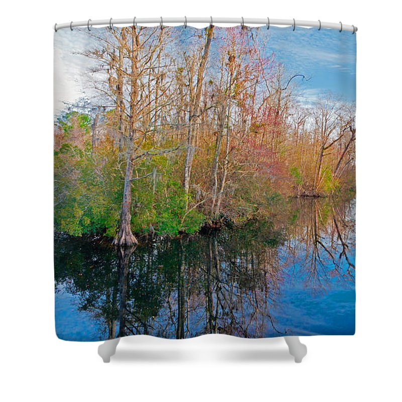 River Shower Curtain featuring the photograph River Bend by Scott Hervieux