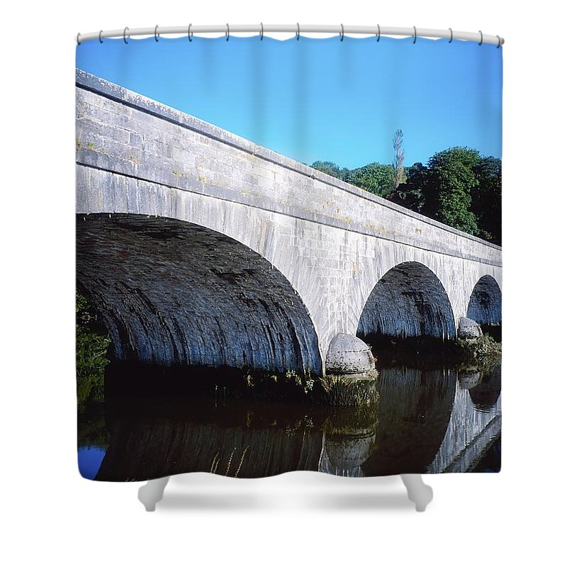 Arch Shower Curtain featuring the photograph River Blackwater, Cappoquin, Co by The Irish Image Collection