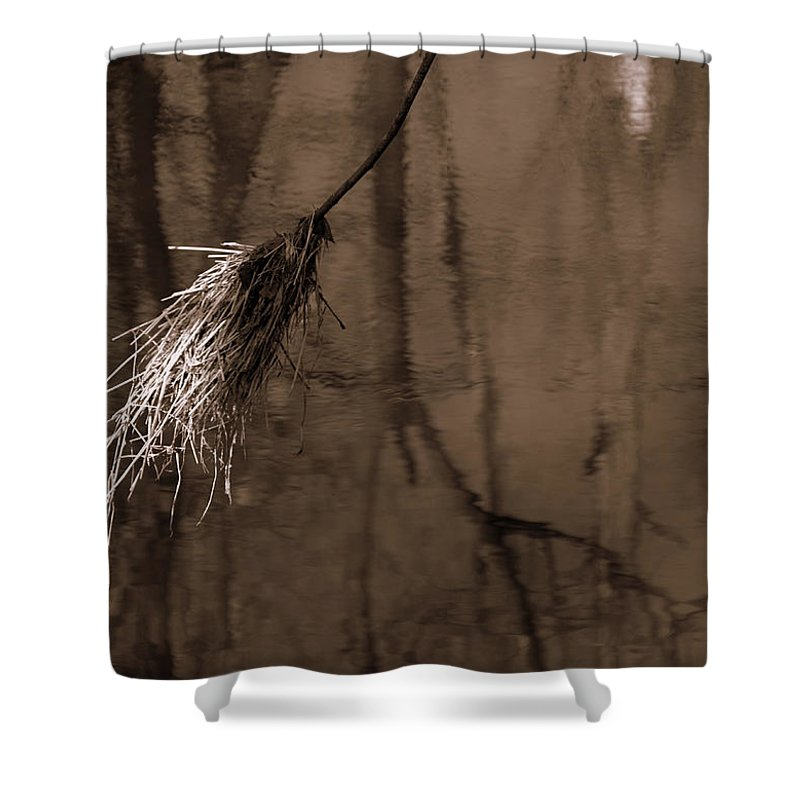 River Duster Shower Curtain featuring the photograph River Duster by Ed Smith